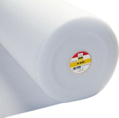 Vilene Iron-on fusible Volume Fleece H640 - White - 90cm Wide - Volume Discounts