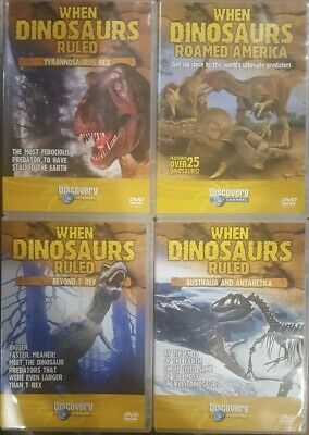 When Dinosaurs Ruled Dvd Australia And Antarctica T-Rex Roamed America 4 Discs
