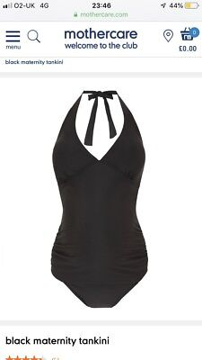 Mothercare Maternity Tankini ~ Black ~ Size 16 Brand New With Tags