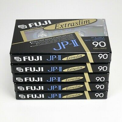 5 x Fuji JP-II 90 (1990-1991) - Type II/Chrome - Factory Sealed - Made in Japan