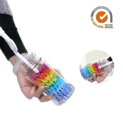 Long Handle Silicone Cleaner Brush Wine Glass Bottle Cup Kitchen Cleaning Tool