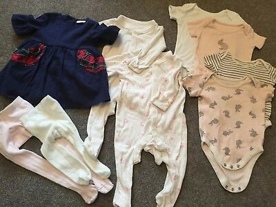 3-6 Months John Lewis, M&S Petit Bateau Dress Baby Grows Tights CH5
