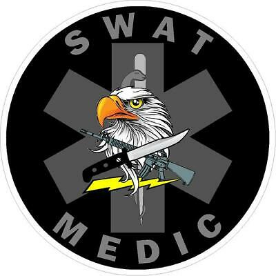SWAT Medic Reflective Vinyl Decal Sticker SOL EMT EMS Paramedic Rescue Police