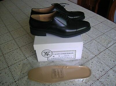 07's A series China PLA Army,Navy,Air Force Officer Uniform Cattle Leather Shoes
