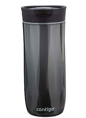 Contigo SnapSeal Byron Double-Wall Plastic Travel Mug, 16 oz, Black