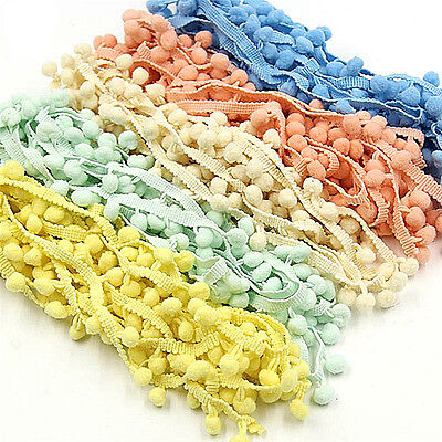 5Yards 20mm Pom Pom Trim Ball Fringe Ribbon Sewing Accessory Lace DIY In TO