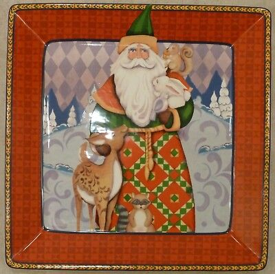 Square Christmas Platter Holiday Traditions by Jim Shore