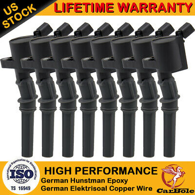 8 Pack Ignition Coils DG508 For Ford F150 97-03 4.6L 5.4L 6.8L 2000-2009 Mercury