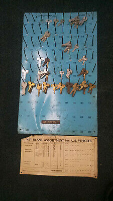 vintage motorcycle key display- metal Curtis Industries