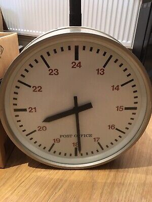 Vintage Double Sided Post Office Clock