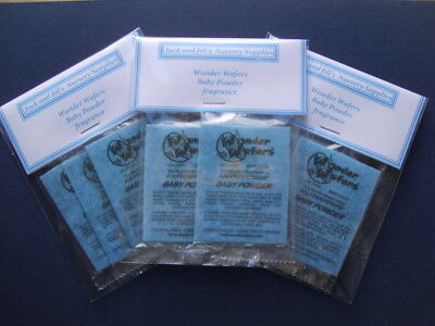 'NEW LARGE PACK' REBORN BABY WONDER WAFERS -  20 x BABY POWDER FRAGRANCE SACHETS