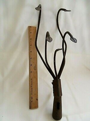 "Vintage Gardex Cultivator Head 5 Tine Heavy Duty Iron Metal 15"" Length 1 lb 6 oz"