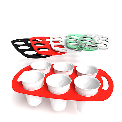Plastic Vending Cup Caddy Holder Tray Coffee Tea 5 Colours
