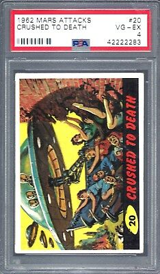 1962 Mars Attacks Crushed To Death # 20 Psa 4 Vg-Ex (2283)