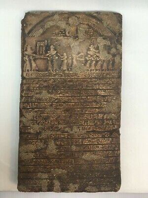 Antique Ancient Egyptian stone Hieroglyphsn or clay EGYPT OLD VTG RARE