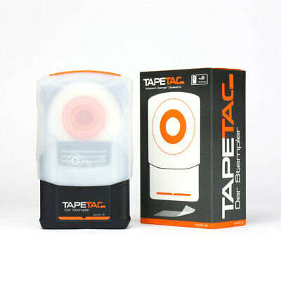 Tapetac Tape Templer Clear Tape Stamp - Easy Quick Mount One Hand Stick Tape