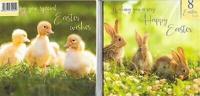 Pack Of 8 Easter Cards**reigious**cute**choice Of**church*egg*1St Class Post*le5