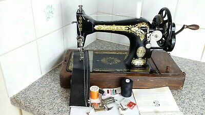 Vintage Hand Crank Singer Sewing Machine 28K, serviced by expert