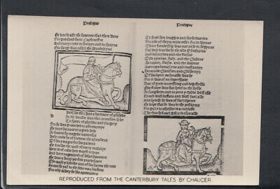 History Postcard - Reproduced From The Canterbury Tales By Chaucer  RS12776