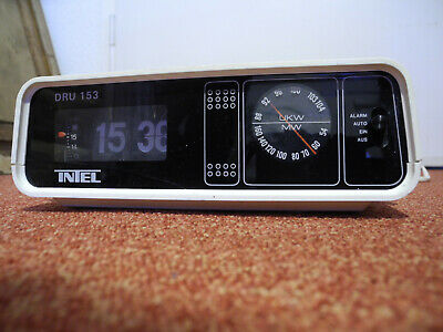 Intel DRU 153 70er Radiowecker  radio alarm clock