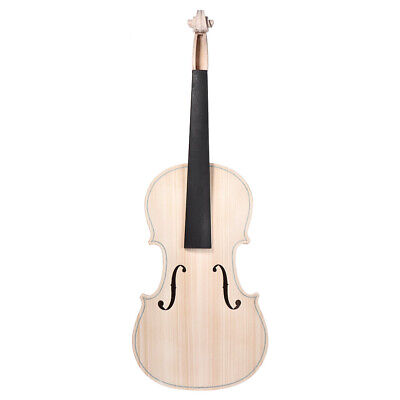 DIY 4/4 Full Size Natural Solid Wood Acoustic Violin Fiddle Kit Spruce Top G6A2