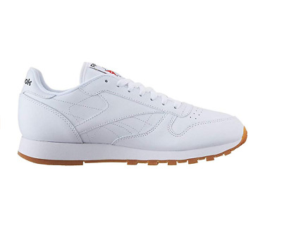 1933136dc72 Reebok Classic Leather CL White Red Gum Fashion Mens Shoes Sneakers 49797