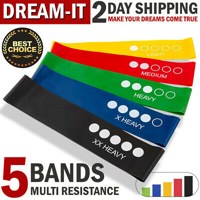 Resistance Bands Set Exercise Elastic Loop Band for Yoga Arm Booty Legs Workout