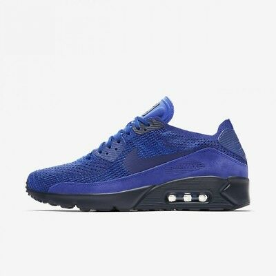 Nike Air Max 90 Ultra 2.0 Flyknit Mens Racer Blue College Navy Deep Royal 95053b425