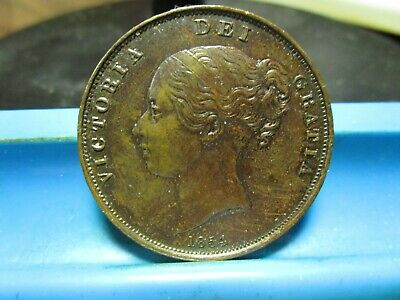 1854 - Great Britain - Penny - XF - KM -739           (A8)