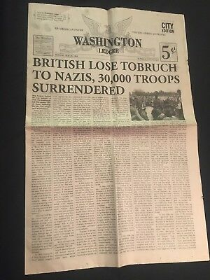 12 Monkeys Original Newspaper Prop (TV, Movie, Screen Used, Original)