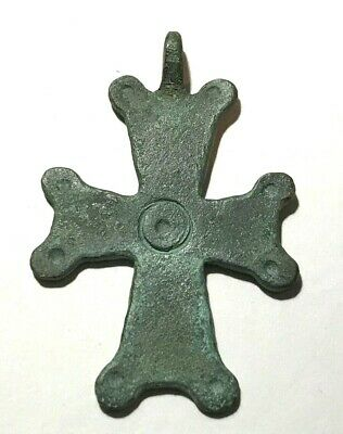Ancient Byzantine Empire, bronze cross, X-XII century, pendant