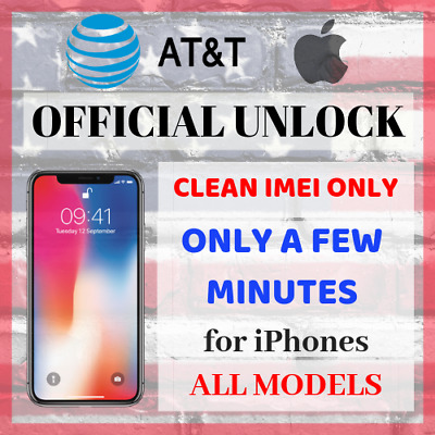 PREMIUM SPEED FACTORY UNLOCK SERVICE AT&T APPLE FOR IPHONE X 8 7 Plus 6s 6 5s