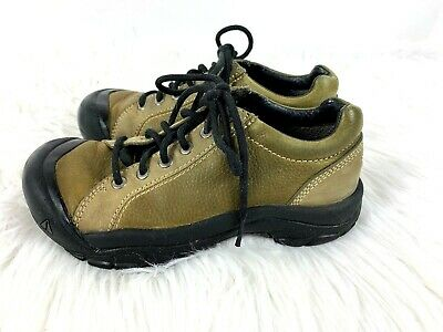 sports shoes 86a17 42f74 Keen Shoes size 6.5 Boys Leather Hiking Oxford Casual Olive Green