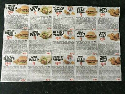 KFC MONEY OFF  VOUCHERS x 30