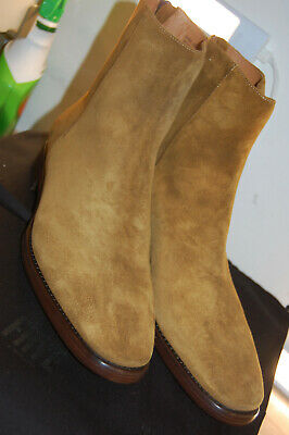 980e523cb41d8 NIB FRYE MEN'S Wright Back Zip Wheat 12 D US M US $589 Boots Made In ...