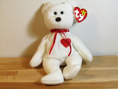 MINT Condition Ty Beanie Baby Valentino Bear with ERRORS on tag! RARE! 1993  ab1686a40223
