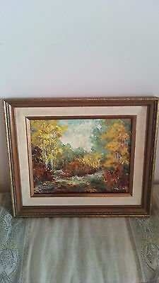 Canadian Landscape - Vintage Oil Painting on Canvas, 8 x 10 Inch, By V Lily