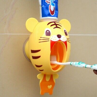Device Automatic Cartoon Toothpaste Squeezer Toothbrush Holder Extrusion