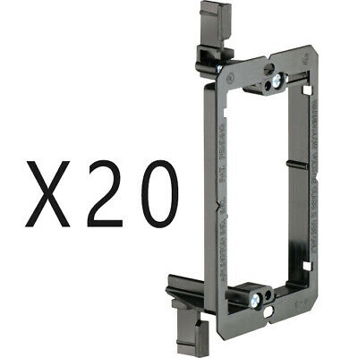 20 Pack - 1-Gang Drywall Bracket Face Wall Plate Mount Mud Ring Low Voltage LV1
