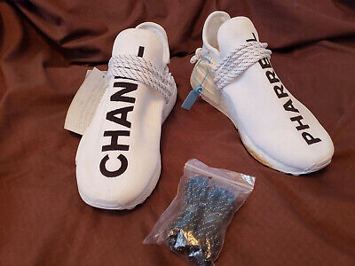 reputable site a5717 5f658 ADIDAS PHARRELL X Chanel HU NMD D97920 White SZ 8 Also fits Women size 10.
