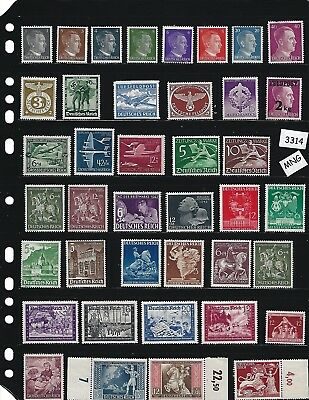 #3314   MNG Stamp set / Third Reich  / Adolph Hitler  / Swastika  / Nazi Germany