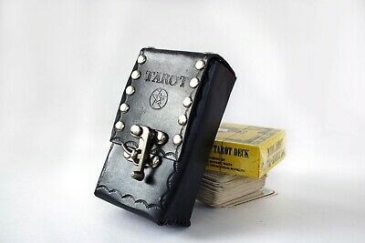 Tarot card leather case pouch for Rider wait Tarot Deck unique new age gift