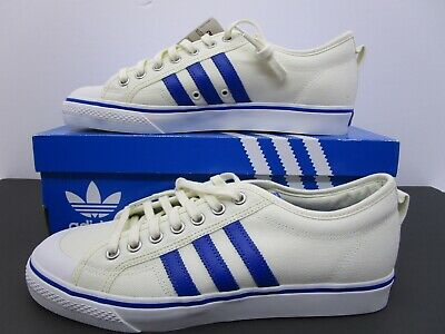 713c4683e3d ADIDAS ORIGINALS NIZZA BZ0489 White Blue Cream Mens Trainers Size 12 ...