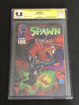 Spawn #1 CGC 9.8 Signed by Todd McFarlane! Image Comics 1992! Movie