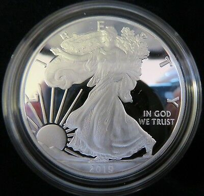 "2019 ""W"" American Eagle 99.9 Silver $1 Dollar One Ounce Proof Coin US Mint"
