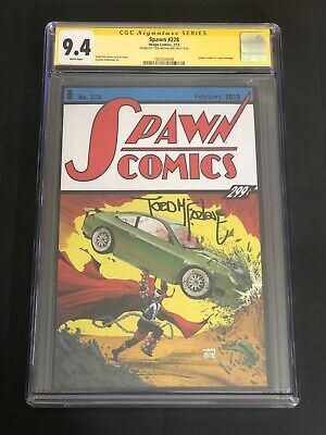 Spawn #228 Action Comics 1 Superman Swipe Variant CGC 9.4 Signed Todd McFarlane!