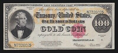 US 1922 $100 Gold Certificate FR 1215 VF-XF (-602)