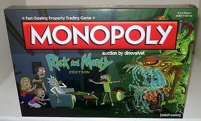 Rick And Morty Monopoly Board Game Brand New Sealed Adult Swim Hasbro