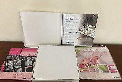 Creative Memories 12x12 Baby Girl Lot ~Album, Pages, Page Protectors & Paper NEW