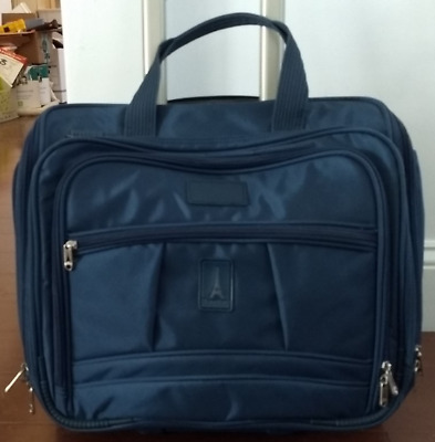 """4bcd5e0676de Travelpro Crew 5 Rolling 15"""" Carry On Wheeled Tote in Marine Blue style 7413"""